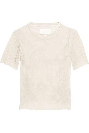MAISON MARGIELA Ribbed cotton-blend top