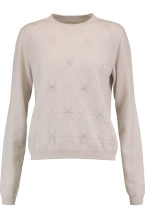 MAISON MARGIELA Button and crystal-embellished cashmere sweater