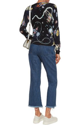 LOVE MOSCHINO Printed wool cardigan