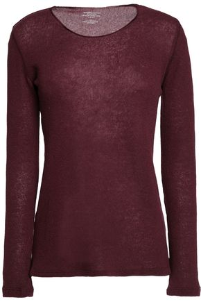 MAJESTIC FILATURES Cashmere and merino wool-blend sweater