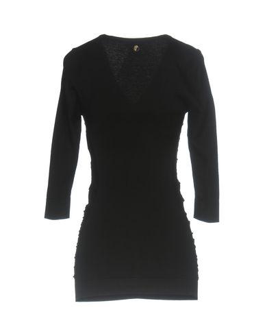 VERSACE COLLECTION Damen Pullover Schwarz Größe 36 72% Viskose 28% Polyester
