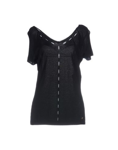 VERSACE COLLECTION Damen Pullover Schwarz Größe 38 80% Viskose 20% Polyamid