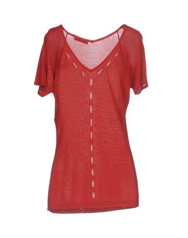 VERSACE COLLECTION Damen Pullover Ziegelrot Größe 36 80% Viskose 20% Polyamid