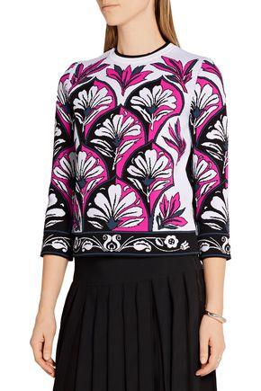 VICTORIA, VICTORIA BECKHAM Jacquard-knit sweater