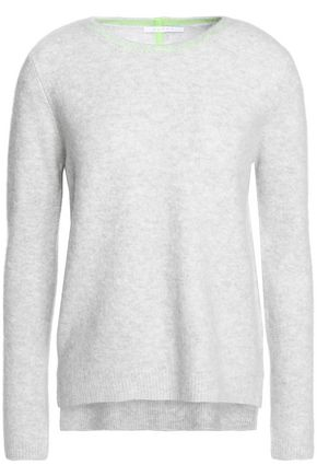 DUFFY Two-tone cashmere-blend sweater
