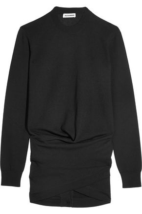 JIL SANDER Ruched wool sweater