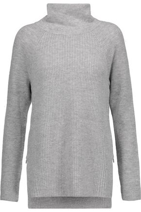 VINCE. Ribbed wool and cashmere-blend turtleneck sweater
