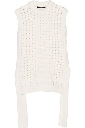 TIBI Open-knit cotton-blend sweater
