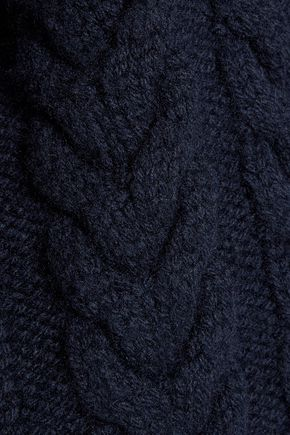 JIL SANDER Cable-knit wool turtleneck sweater