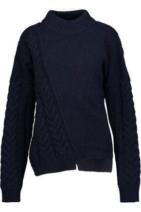 JIL SANDER Cable-knit wool turtleneck sweater