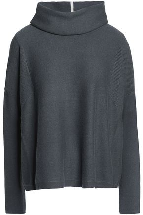 DUFFY Draped cashmere turtleneck sweater