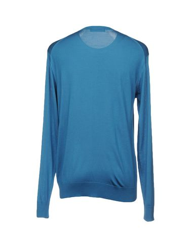Фото 2 - Мужской свитер  пастельно-синего цвета