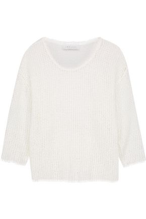 IRO Erin open-knit cotton-blend top