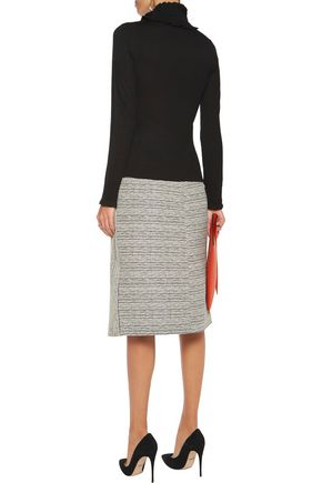 GOAT LIBRARY Cindy ruffle-trimmed stretch-knit sweater