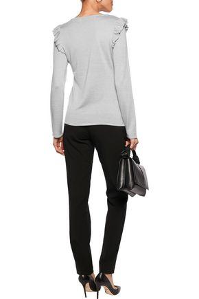 GOAT Clove ruffle-trimmed stretch-knit top