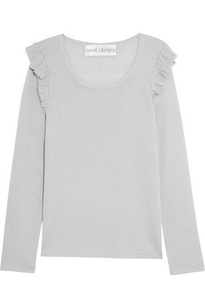 GOAT Clove ruffle-trimmed stretch-knit top