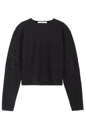 DION LEE Cutout boiled wool sweater