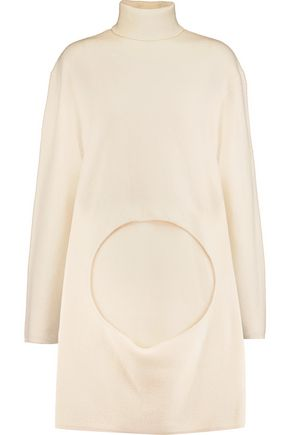 DION LEE Circle cutout merino wool turtleneck sweater