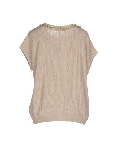 Фото 2 - Женский свитер  светло-коричневого цвета