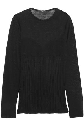 BALMAIN Ribbed wool sweater