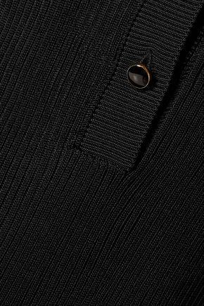 VANESSA SEWARD Ribbed-knit polo top