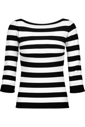 TOMAS MAIER Striped stretch-knit sweater