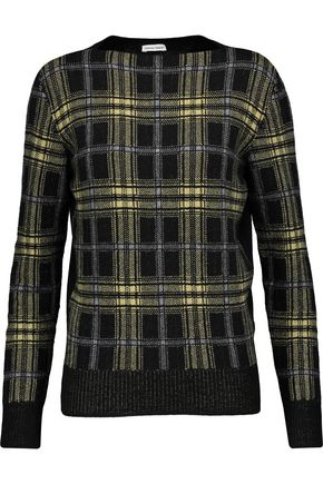 TOMAS MAIER Checked wool and cashmere-blend sweater