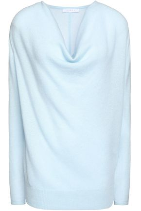 DUFFY Draped mélange cashmere sweater