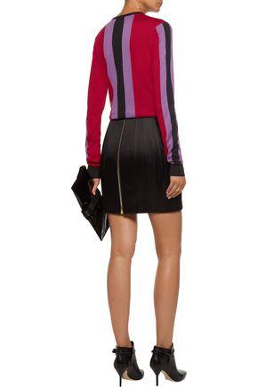 BALMAIN Striped silk and cashmere-blend sweater
