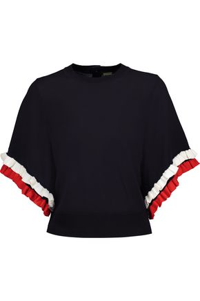 ADAM LIPPES Ruffled wool top