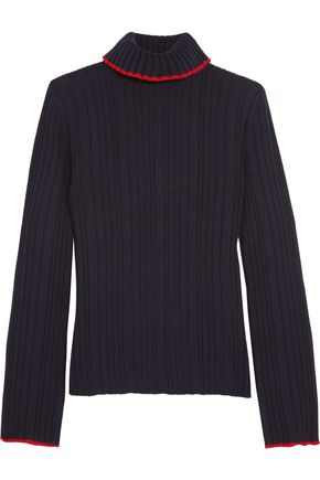 MSGM Ribbed wool turtleneck sweater
