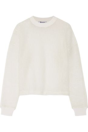 T by ALEXANDER WANG Wool-blend cloqué sweater