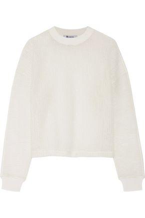 T by ALEXANDER WANG Wool-blend cloqué sweater
