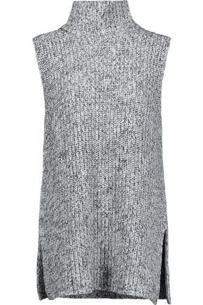 T by ALEXANDER WANG Marled cotton-blend turtleneck sweater