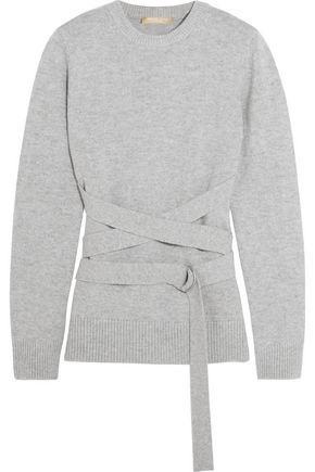 MICHAEL KORS COLLECTION Belted cashmere sweater