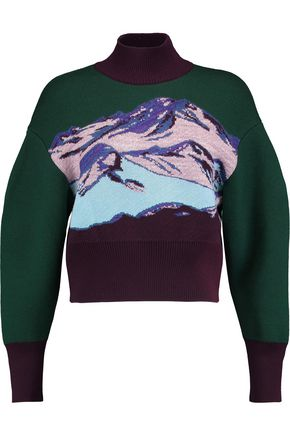 EMILIO PUCCI Jacquard-knit wool-blend turtleneck sweater