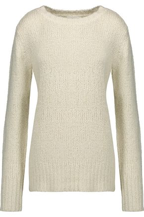 A.L.C. Francisco bouclé-knit silk and cashmere-blend sweater
