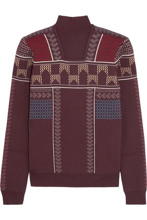 PETER PILOTTO Intarsia wool-blend sweater