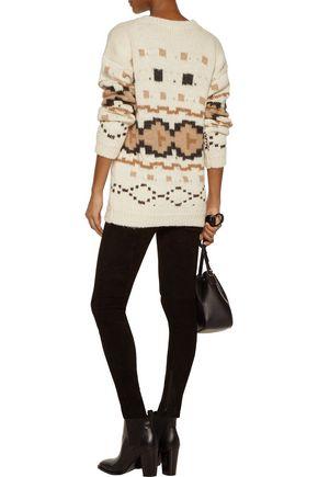 TALITHA Intarsia-knit alpaca sweater