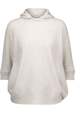 BRUNELLO CUCINELLI Ribbed cashmere hooded sweater