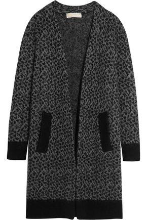 MICHAEL MICHAEL KORS Leopard jacquard-knit cardigan