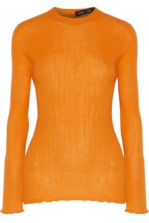 PROENZA SCHOULER Ruffle-trimmed ribbed wool sweater