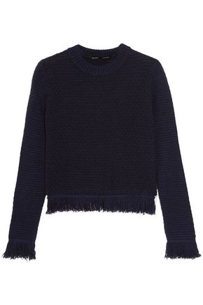 PROENZA SCHOULER Frayed wool-blend knitted sweater
