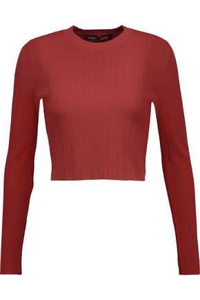 PROENZA SCHOULER Cropped ribbed stretch-knit sweater