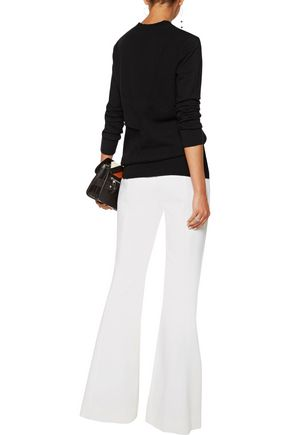 PROENZA SCHOULER Layered paneled stretch wool and cashmere-blend sweater