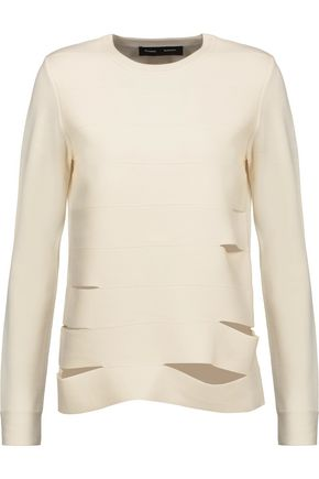 PROENZA SCHOULER Cutout-paneled merino wool-blend sweater