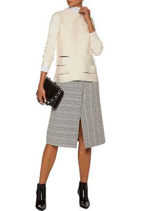 PROENZA SCHOULER Cutout-paneled merino wool-blend sweater