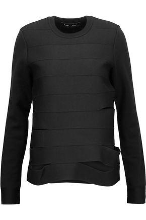 PROENZA SCHOULER Cutout paneled merino wool-blend sweater