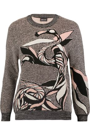JUST CAVALLI Wool-blend intarsia-knit sweater