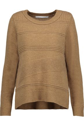 DIANE VON FURSTENBERG New Kingston waffle-knit wool and cashmere-blend sweater